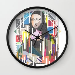 Monalisa Cubism Style Wall Clock