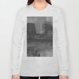 Paint Texture (Black and White) Long Sleeve T-shirt