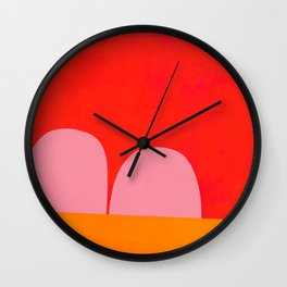 Over the Valley Wall Clock