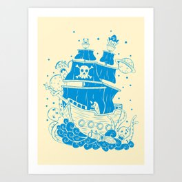 Piratas from outer space Art Print