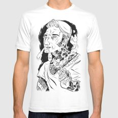 Psychobilly MEDIUM Mens Fitted Tee White