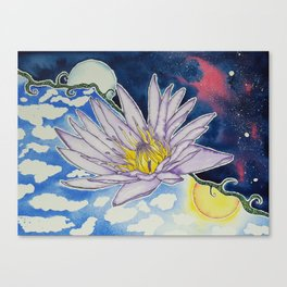 Night and Day Water Lily Canvas Print