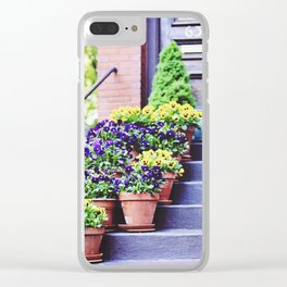 Flowers on Stoop in South End Clear iPhone Case
