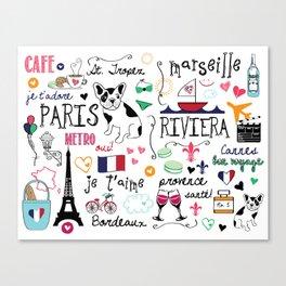 J'Adore France Canvas Print