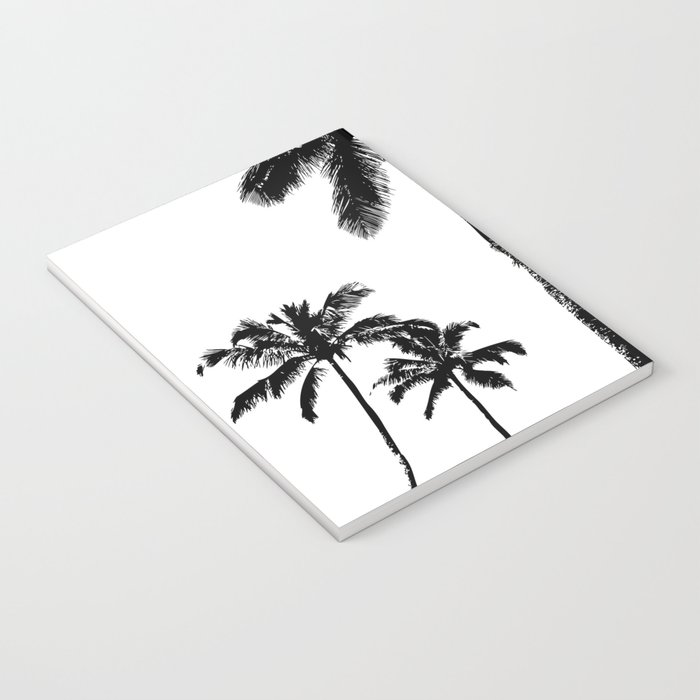 Monochrome tropical palms Notebook