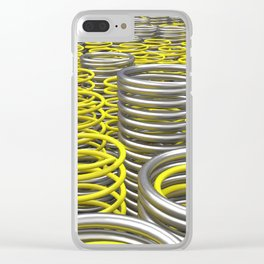 Plastic and metal springs and coils Clear iPhone Case