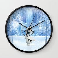 olaf Wall Clocks featuring OLAF by Electra