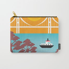 San Francisco, California - Skyline Illustration by Loose Petals Carry-All Pouch