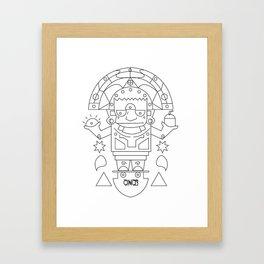 El Barto Sun God Framed Art Print