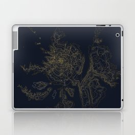 Mount Hood, Oregon Contour Map Laptop & iPad Skin
