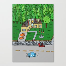 Brick House Canvas Print