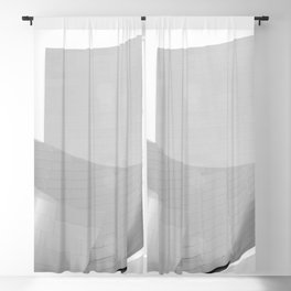 From the Inside Out Black And White Afternoon Vintage Retro Photography I Blackout Curtain
