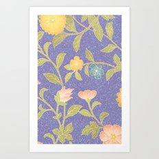 PAINTING FLOWER  Art Print
