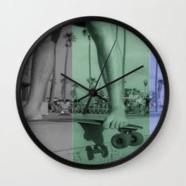 skate || collage Wall Clock