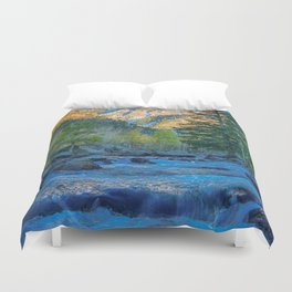 River Bed Sunrise // Long Exposure Landscape Photograph in the Colorado Rocky Mountains Duvet Cover