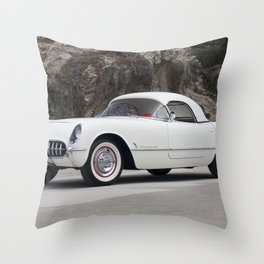 1955 Corvette Throw Pillow