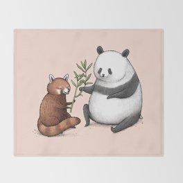 Panda Friends Throw Blanket