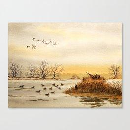 Hunting Pintail Ducks Canvas Print
