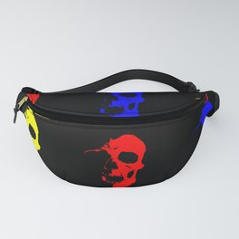 Skull 3x3 - Red/Blue/Yellow Fanny Pack