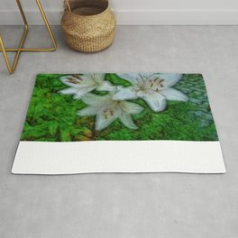 White beautiful Lily Rug