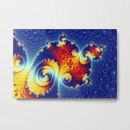 Fire in the Stars Mandelbrot Fractal Metal Print