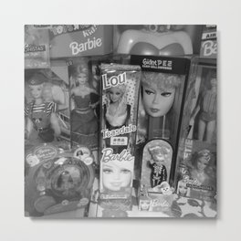 #BarbieLou with tomodachi b/w Metal Print