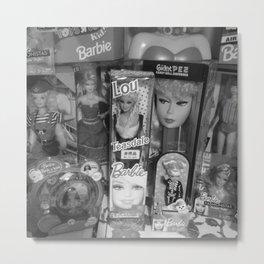 #BarbieLou with tomodachi b/w Metal Print