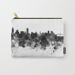 Montreal skyline in black watercolor Carry-All Pouch