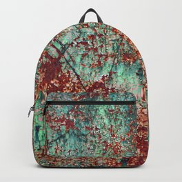 Abstract Rust on Turquoise Painting Backpack