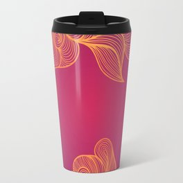 Heat Wave colorful illustrated abstract waves Travel Mug