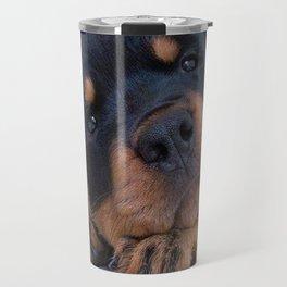 Riley  🐾  The Rottweiler Puppy  🐾 Travel Mug