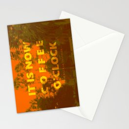Coffee O'Clock Stationery Cards