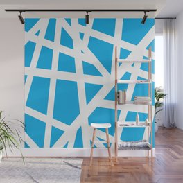 Abstract Interstate  Roadways White & Aqua Blue Color Wall Mural