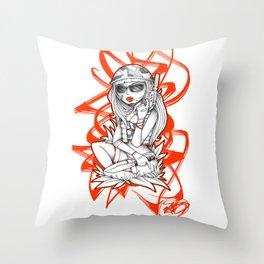 SERVICEWOMAN Throw Pillow