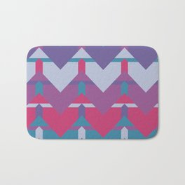 Cool Waves #society6 #violet #pattern Bath Mat