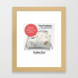 SOLD, Feather Tree Duvet Framed Art Print
