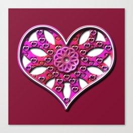 Raise Heart Valentine Canvas Print
