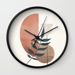 Abstract Rock Geometry 12 Wall Clock