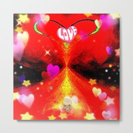 """Red Hot Love-a"" Metal Print"