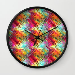 carré losange de couleur Wall Clock