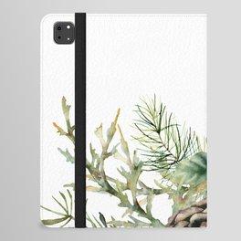 Christmas Pine Bouquet, Watercolor Floral Prints iPad Folio Case