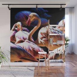 Flamingos of the Serengeti painting Wall Mural