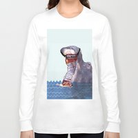 hippo Long Sleeve T-shirts featuring Hippo by MGNFQ