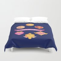 magical girl Duvet Covers featuring Fight Like A (Magical) Girl by fabs