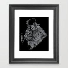 High Class Cat Framed Art Print
