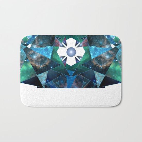 Abstract Galaxy Flower Bath Mat