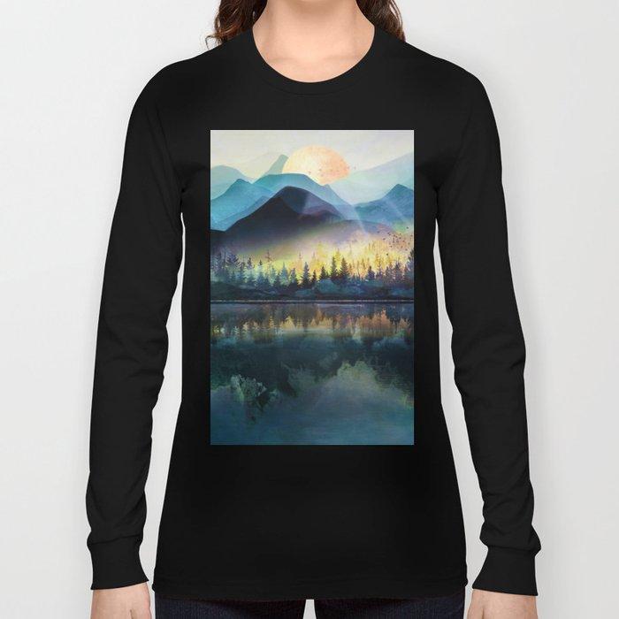 Mountain Lake Under Sunrise Long Sleeve T-shirt