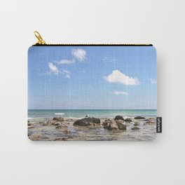 Sunny day on the Rocky Shore Carry-All Pouch