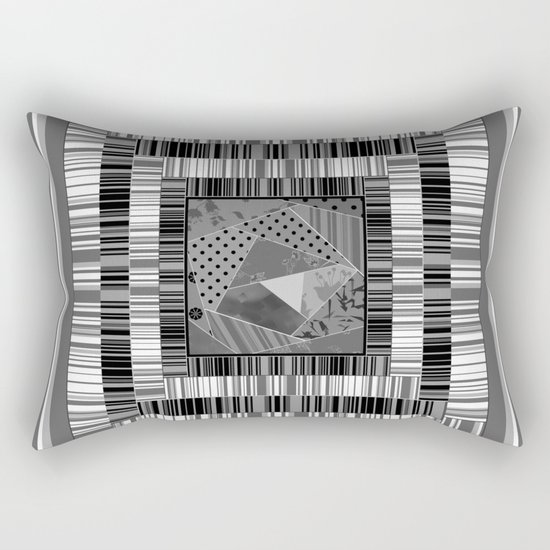 Abstract pattern . Patchwork striped . Rectangular Pillow