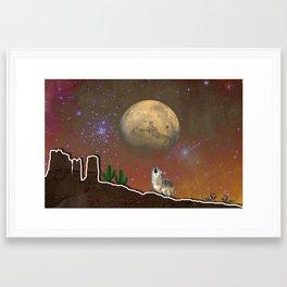 Desert Collage Framed Art Print